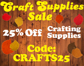 Craft Supplies Sale. 25% Off Crafting Supplies