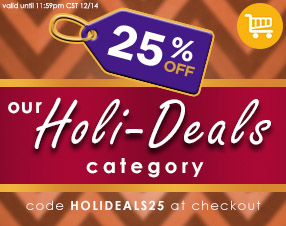 25% off our Holi-Deals category