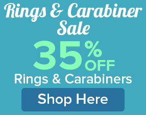 35% Off Rings and Carabiners