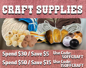Spend $30, save $5. Spend $50, save $15 on Craft Supplies.