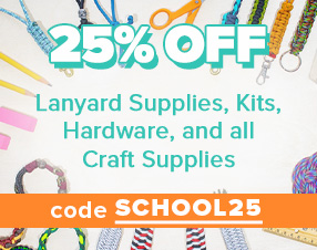 25% Off Lanyard Supplies, Kits, Hardware, and All Craft Supplies
