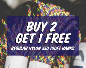 Buy two get one free 550 hanks