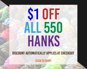 $1 off all 550 hanks