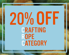 20% Off Crafting Rope Category
