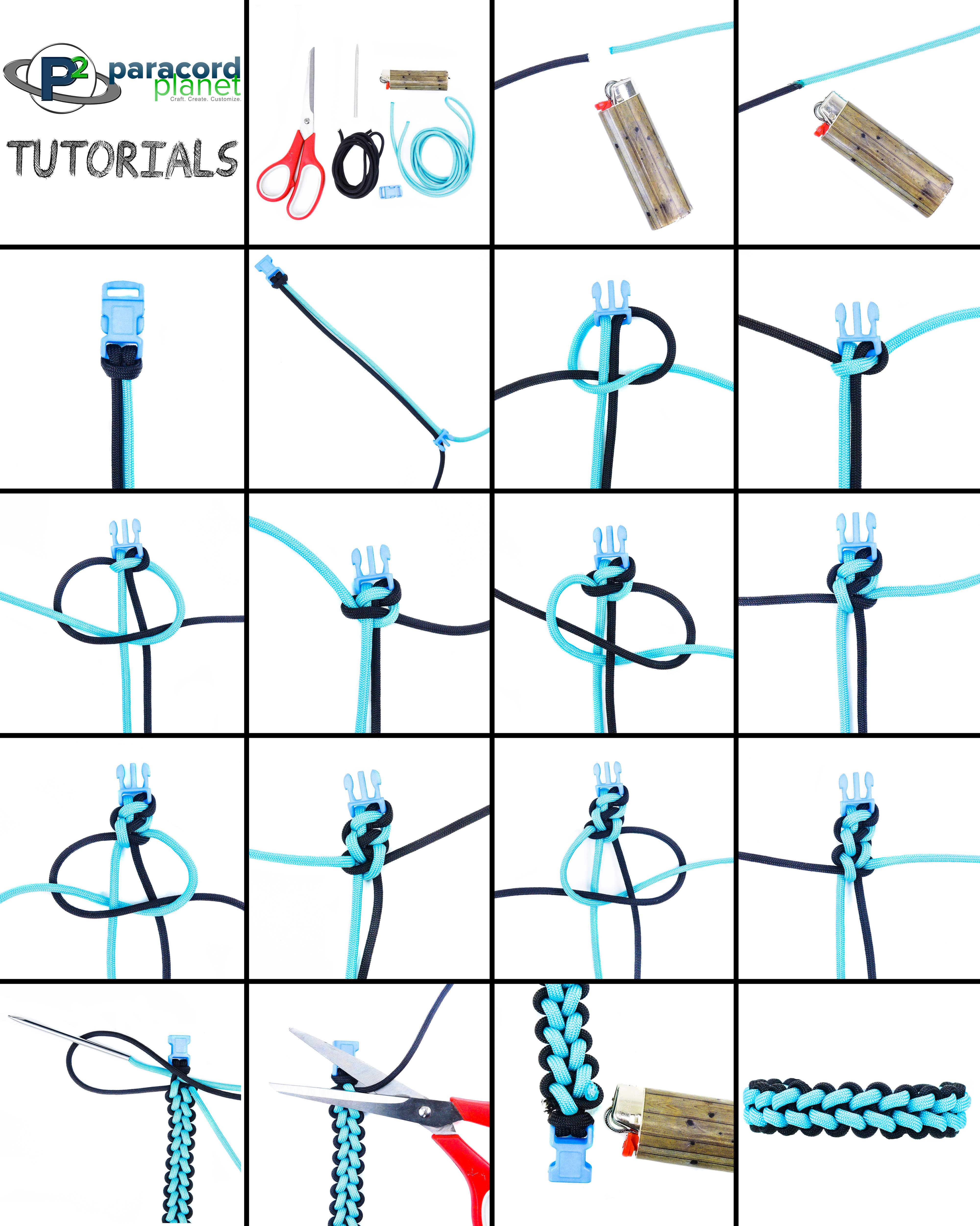 Paracord Reverse Stitched Solomon Bracelet tutorial