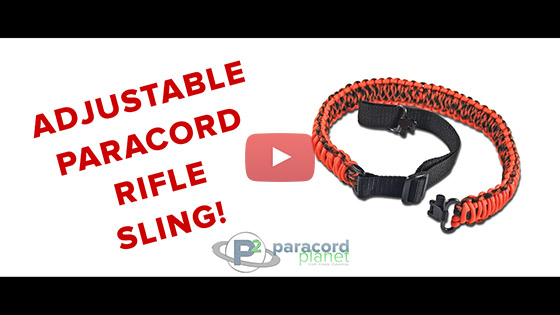 Adjustable Paracord Rifle Sling