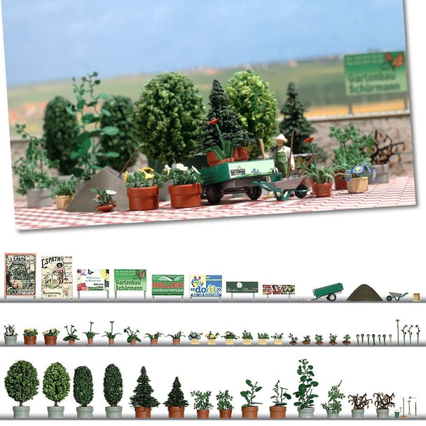 BUSCH 1211 Garden Design Set 00/HO Model Kit