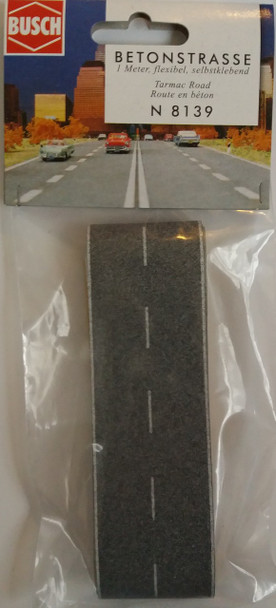 BUSCH 8139 Tarmac Road 'N' Gauge 1m x 40mm Wide