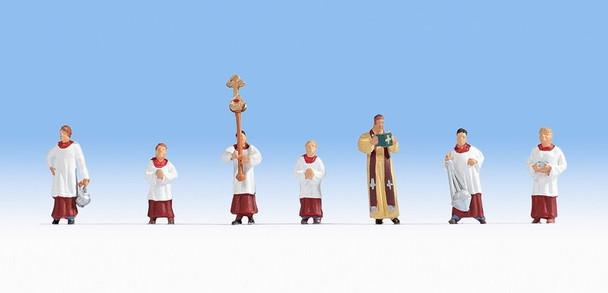 NOCH 15410 Priests & Alter Servers 00/HO Model Figures