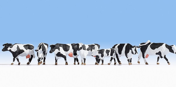 NOCH 15725 Black & White Cows 00/HO Model Animals