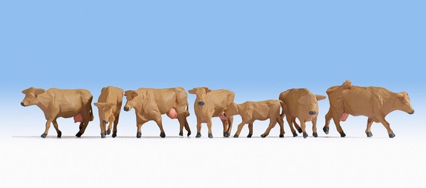 NOCH 15727 Brown Cows 00/HO Model Animals