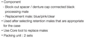 Locator Male Processing Kit