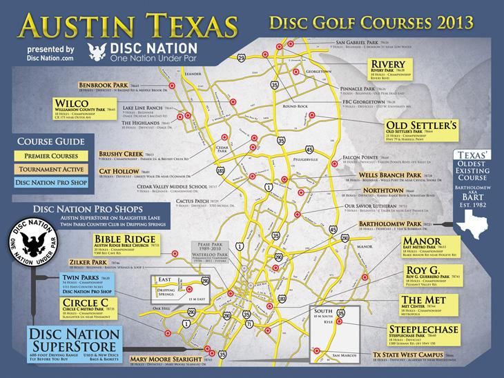 Austin Texas Disc Golf Courses 2012 Disc