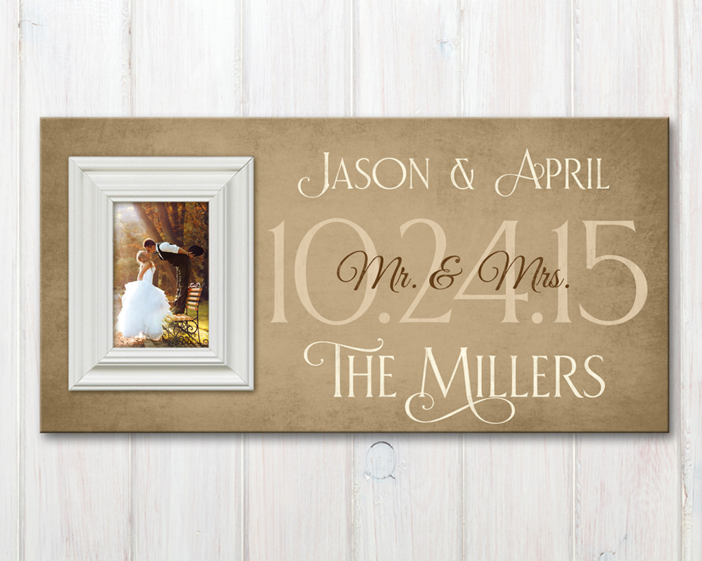 Personalized Family Established Sign With Picture Frame
