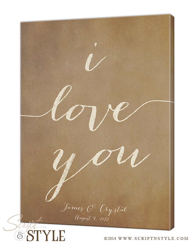 Personalized I Love You Canvas Wall Art Personalized