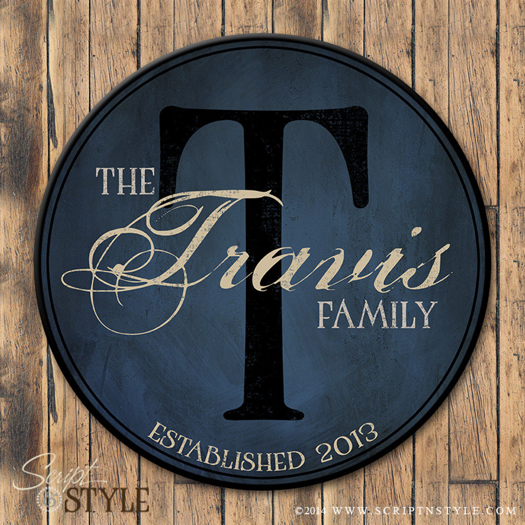 personalized family name plaque
