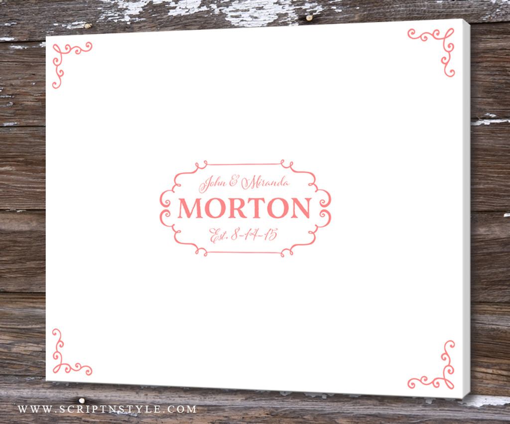 Wedding Guest Book Alternative Personalized Canvas For Signing