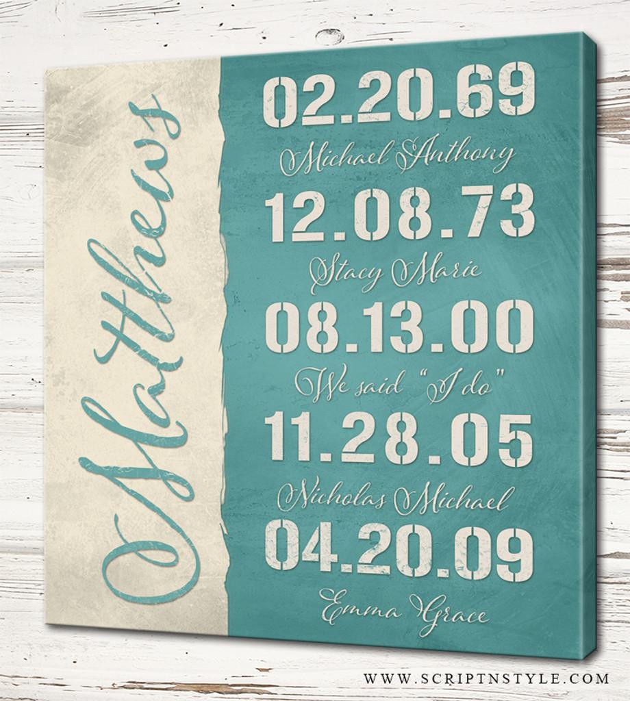 custom special dates sign
