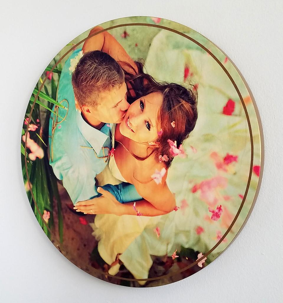 Print photograph on wood