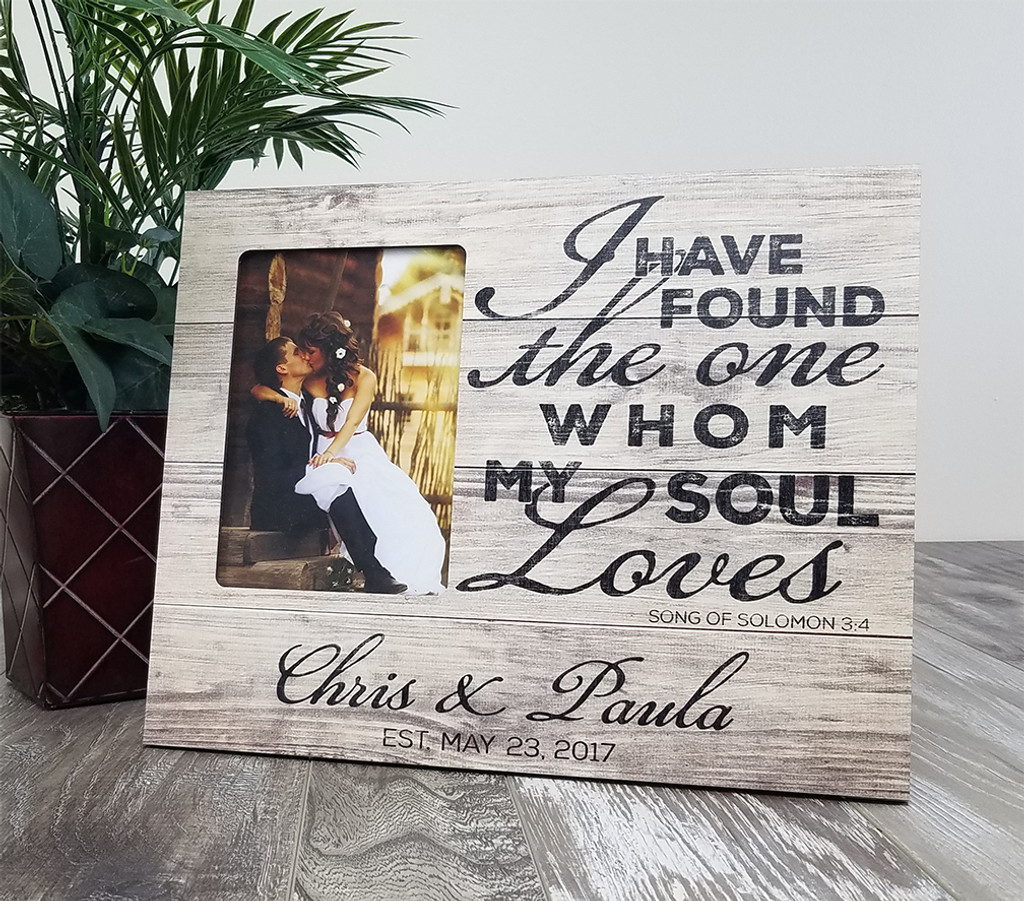 Personalized Wood Wedding Picture Frame Song Of Solomon