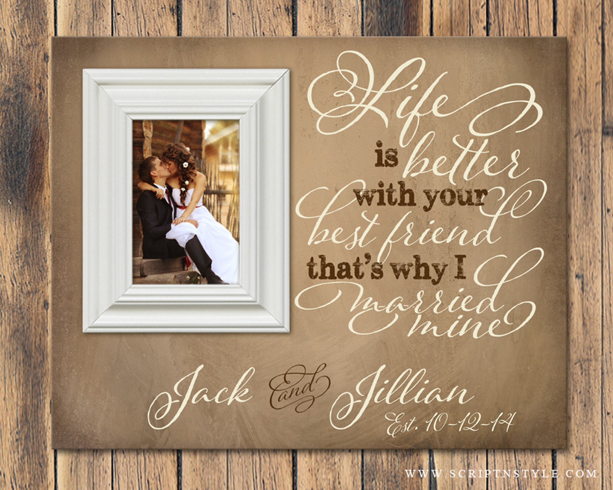 Personalized Picture Frame Life Is Better With Your Best
