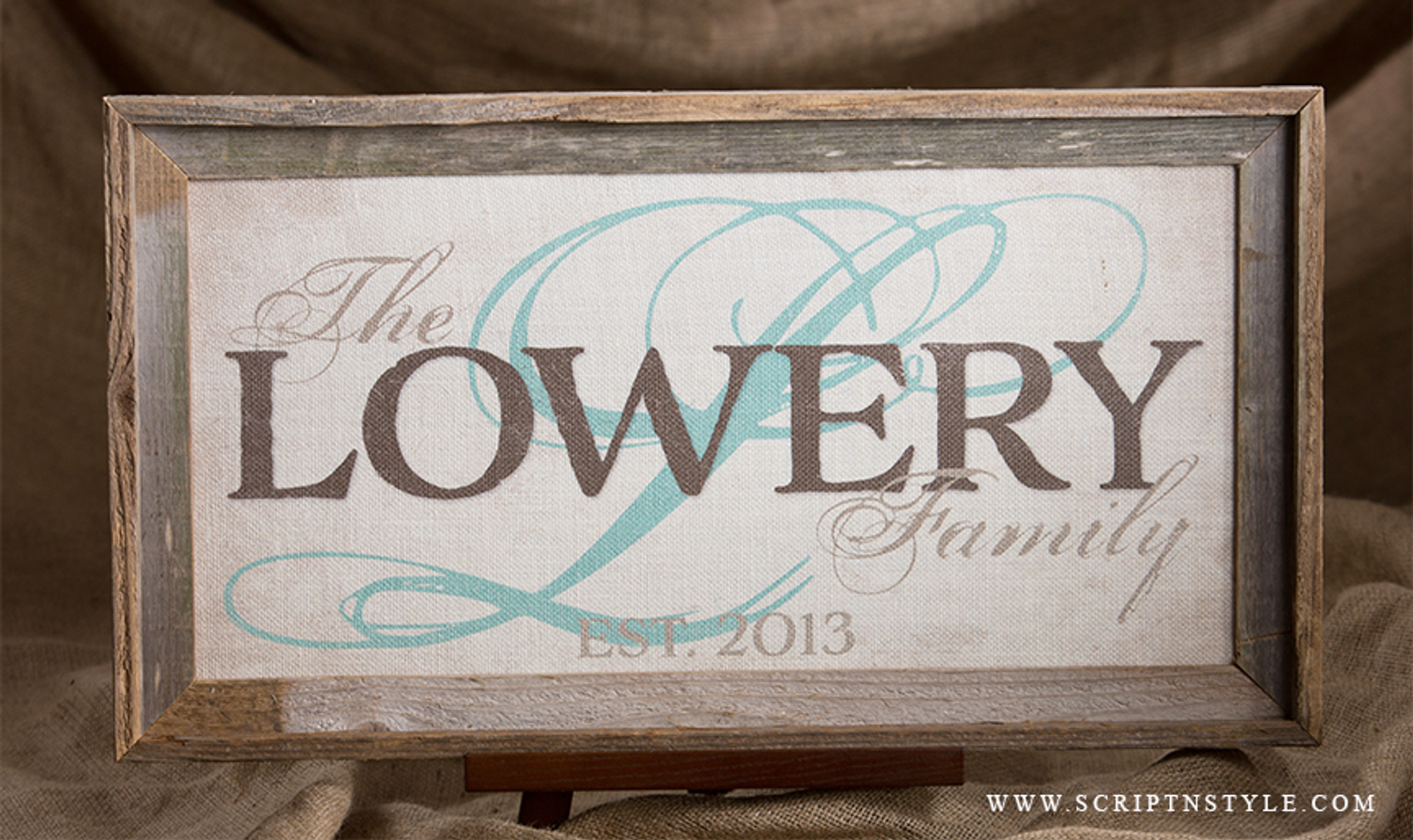 Personalized Family Established Signs - Burlap Signs