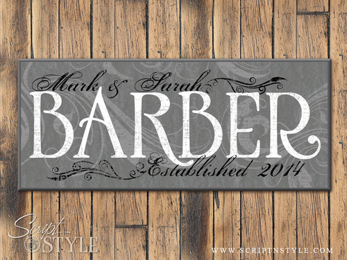 Personalized Family Name Sign, Medium Gray