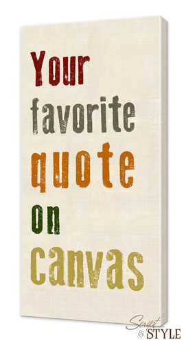 Your custom quote on canvas