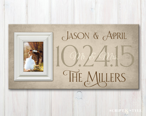 family established sign with picture frame