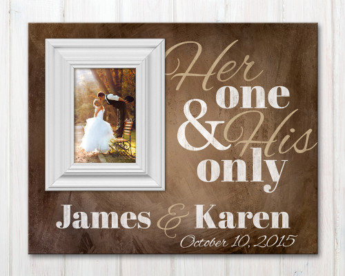Personalized wedding picture frame