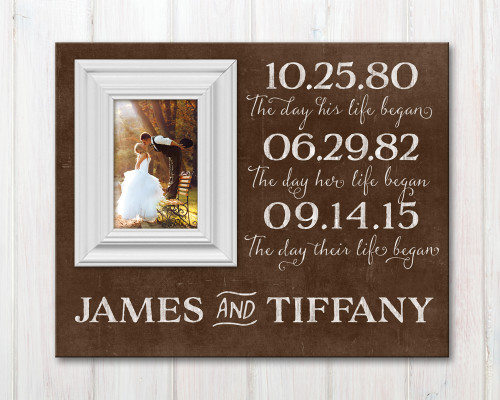 Personalized Wedding Date Picture Frame