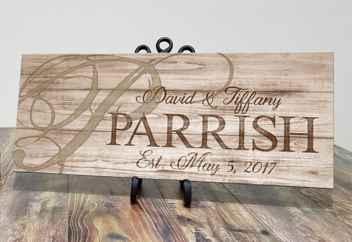 Rustic family name sign