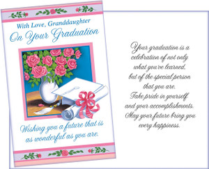 Graduation moneyholder greeting cards made in usa six fantastic 36067 six graduation granddaughter greeting cards with six envelopes m4hsunfo