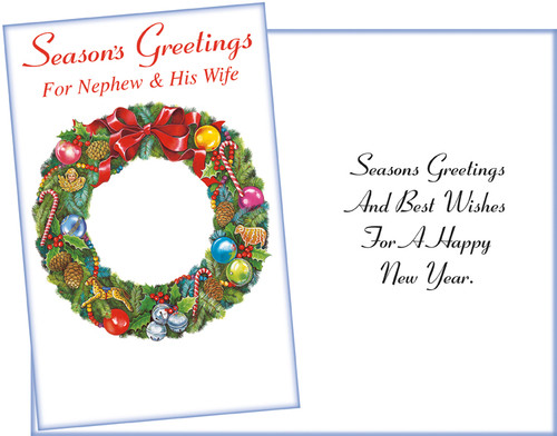 61201 six christmas nephew and his wife cards and envelopes