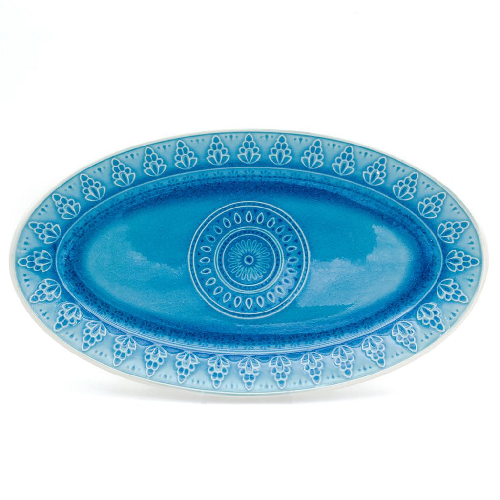 Fez Crackle-Glaze Oval Platter