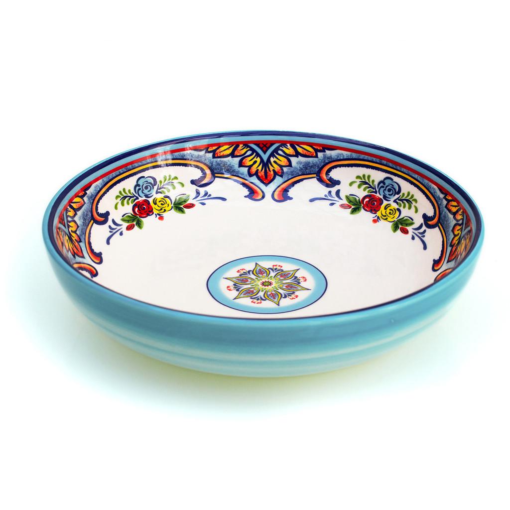 Zanzibar Stoneware Pasta Bowls, Set of 4