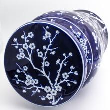 Blue Garden Cobalt Cherry Blossom Podium Stool