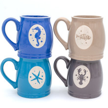 Ocean City Lidless Stein Mugs, Set of 4, Assorted Colors