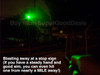 Black Beast® Military Grade Beam Laser Pointer - World's Most Powerful Legal Laser that You Can Buy!   - 2 Miles Green Beam at Night!
