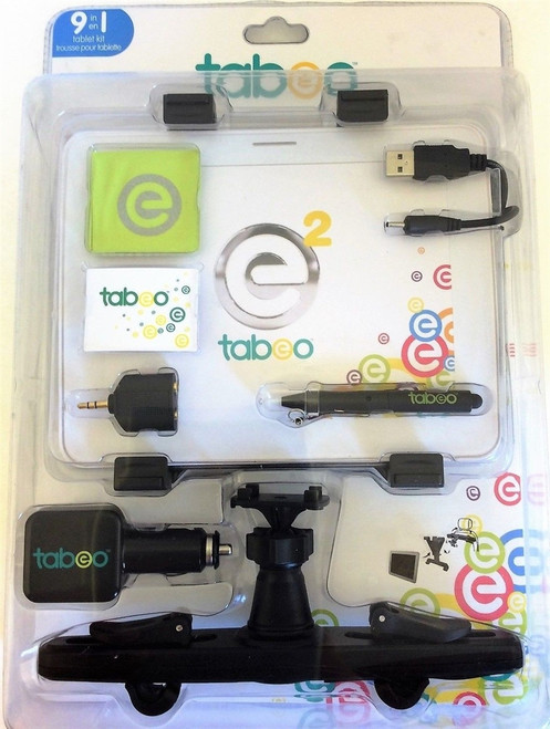 Tabeo 9 in 1 Tablet Kit Universal Car Mount USB Dual Car Charger