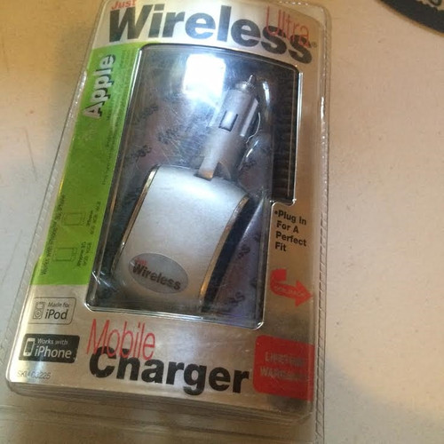 Just Wireless Ultra Mobile Charger , iPhone 3g,iPad nano 3,4, iPod 4,5