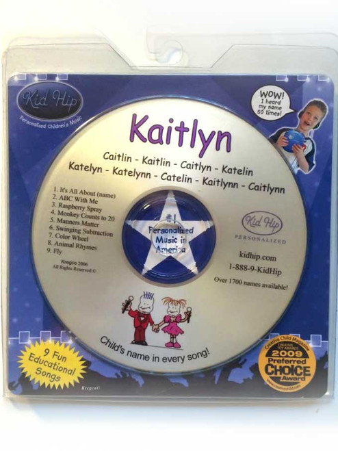 KID HIP Personalized Name (Kaitlyn) CD- Hear Your Child's Name 50x In The Music