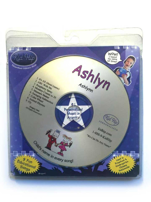 KID HIP Personalized Name (Ashlyn) CD- Hear Your Child's Name 50x In The Music