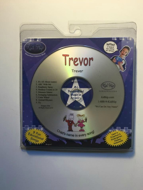 KID HIP Personalized Name (Trevor) CD- Hear Your Child's Name 50x In The Music