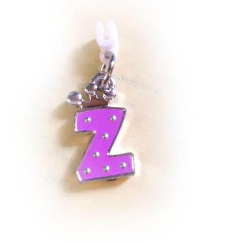 Pop Girl Ear Bud Charm: Letter Z