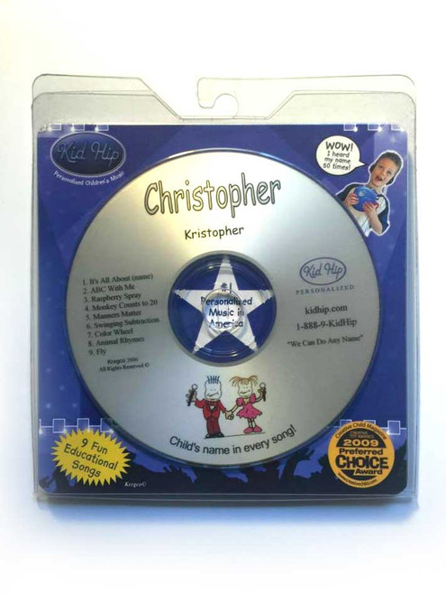 KID HIP Personalized Name (Christopher) CD- Hear Your Child's Name 50x In The Music
