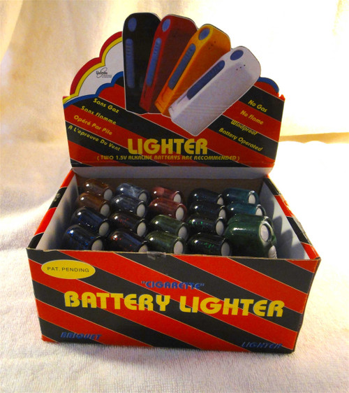 AA Battery Cigarette Lighters - Flameless, Windproof, No Gas, GasLess, 100% Electric, Ideal for Motorcyclists, Visually Impaired, Elderly, Prisons, Industrial Plants, Camping