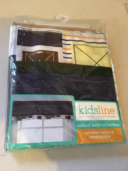 KidsLine Oxford Bear Collection Window Valance