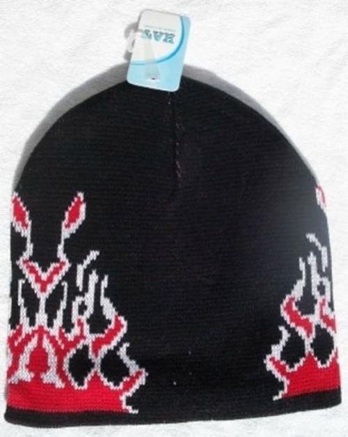 Black Holiday Knit Winter Warm Beanie Ski Hat