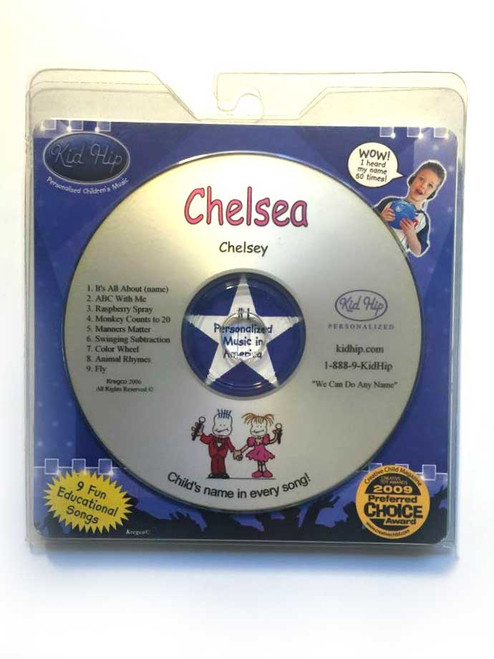 KID HIP Personalized Name (Chelsea) CD- Hear Your Child's Name 50x In The Music
